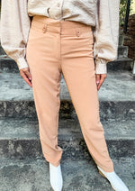 Taupe Straight Leg Pant