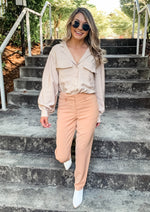Taupe Woven Blouse