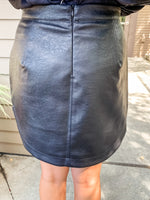 Black Faux Leather Skirt - Lilac&Lemon