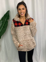 Dusty Rose Flannel Pullover