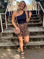 Leopard Print Swing Shorts