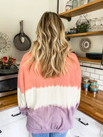 Ombré Pink and Purple Tie Dye Sweater - Lilac&Lemon