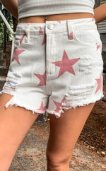 Star Print Shorts - Lilac&Lemon
