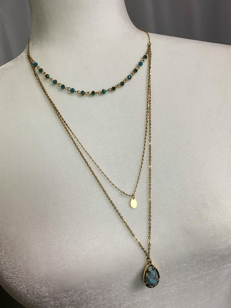 Turquoise Drop Necklace