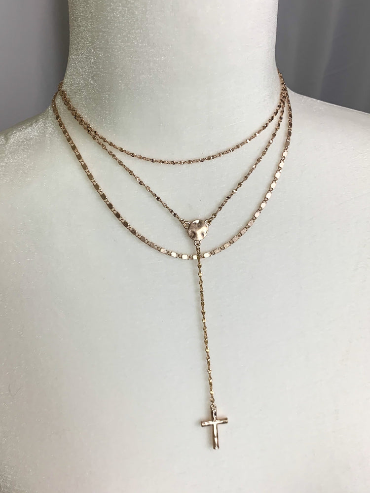 Layered Cross Necklace
