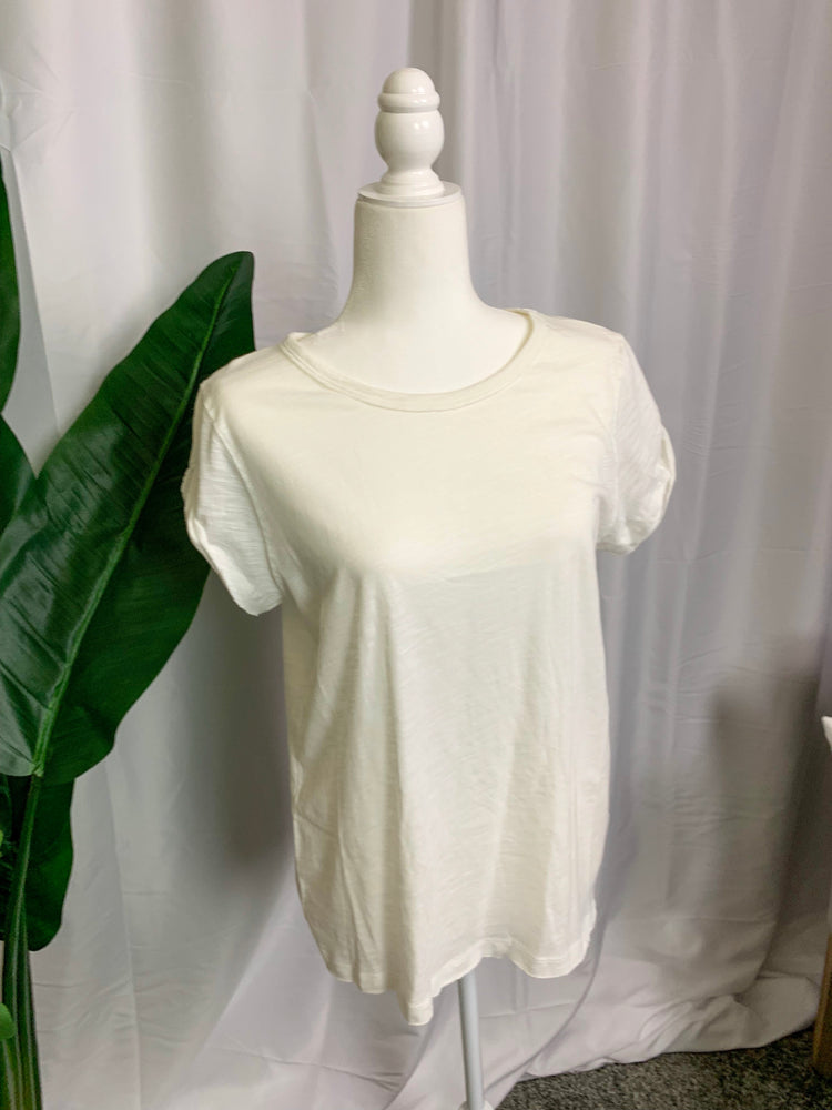 Basic White Tee Shirt - Lilac&Lemon