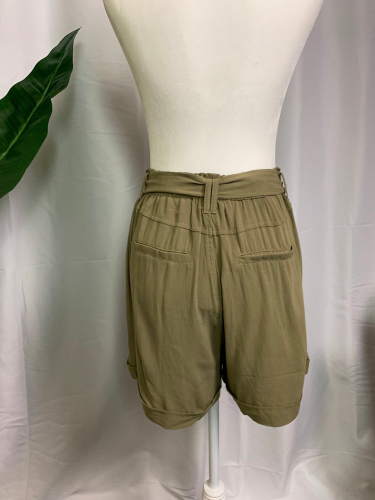 Tie Waist Safari Shorts - Lilac&Lemon