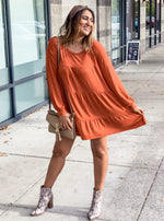 Pumpkin Tiered Dress