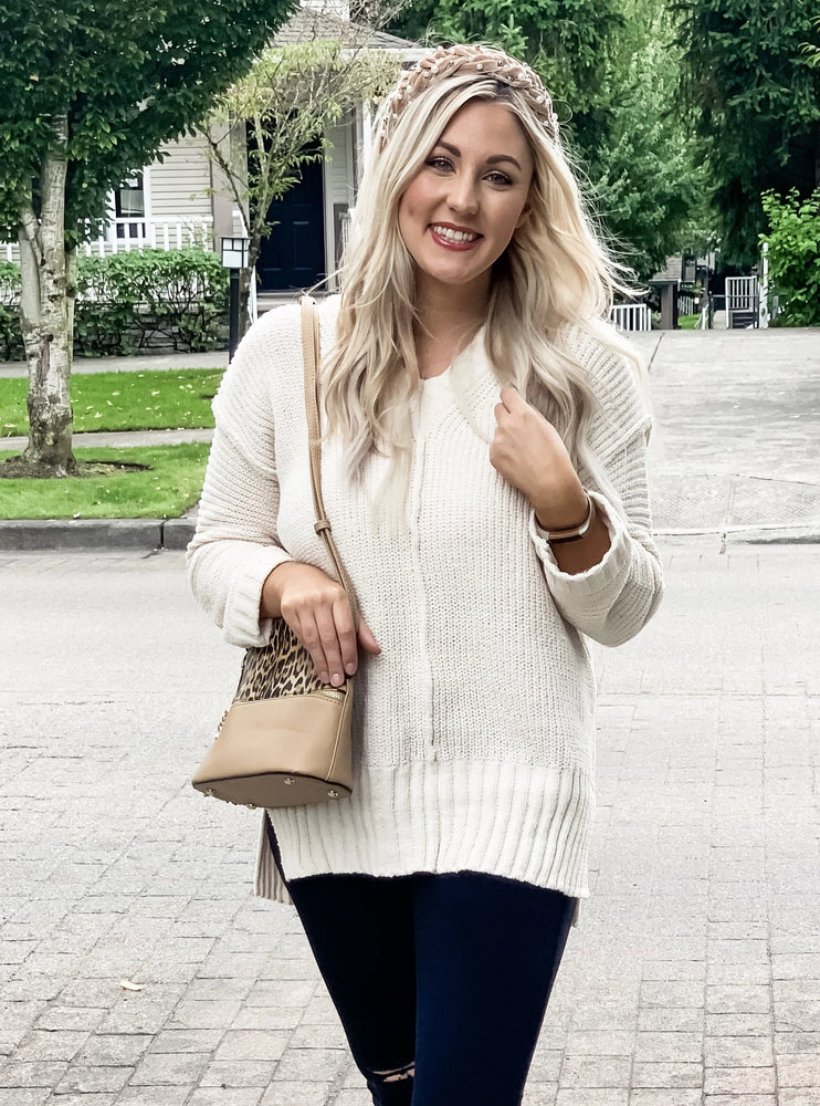 Cream Chenille Sweater