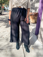 Black Wide Leg Pant - Lilac&Lemon