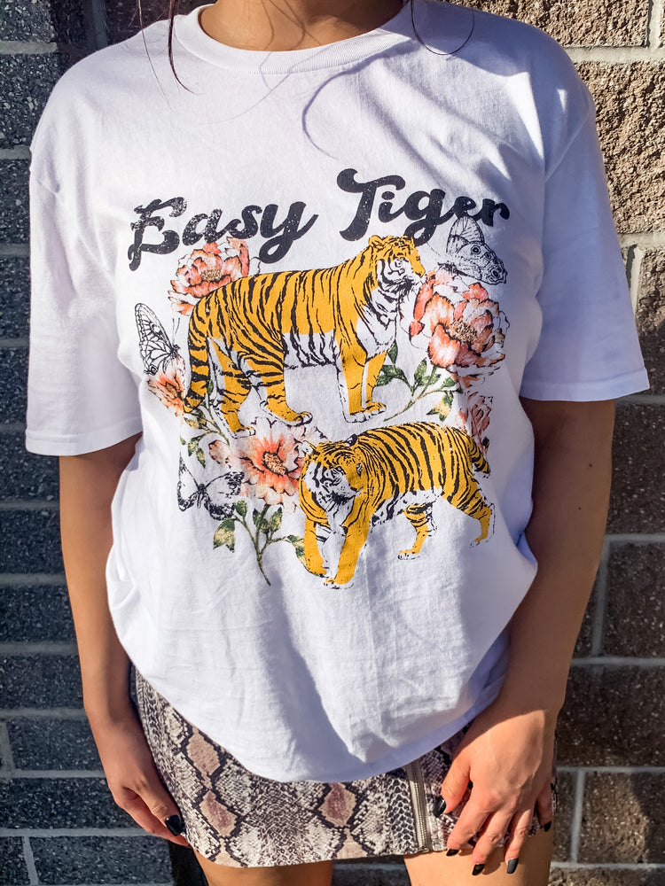 Easy Tiger Graphic Tee - Lilac&Lemon