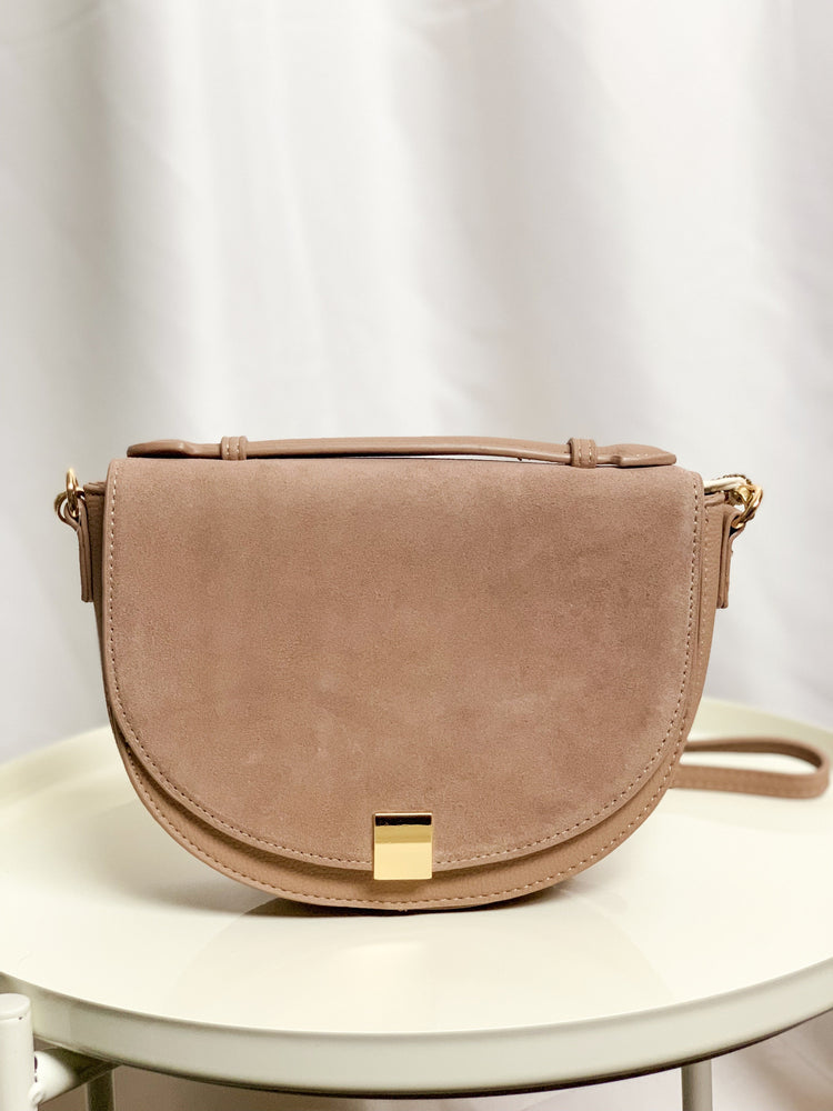 Taupe Cross Body Bag - Lilac&Lemon