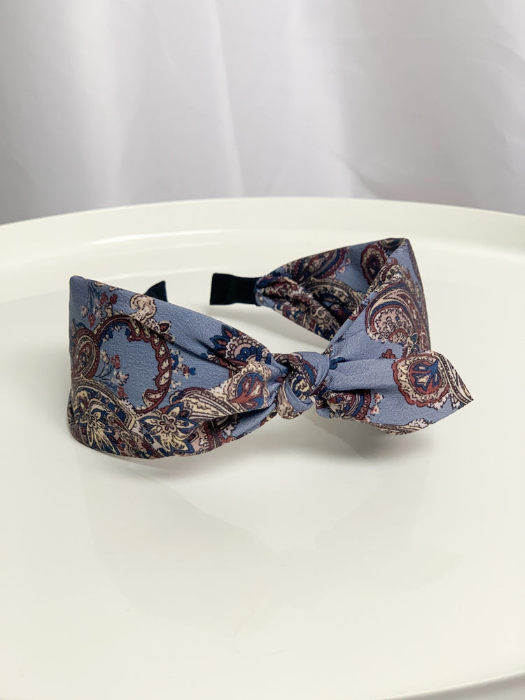Blue Paisley Headband - Lilac&Lemon
