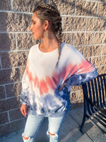 Pink and Navy Tie Dye Pullover - Lilac&Lemon