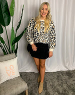 Cozy Leopard Print Sweater