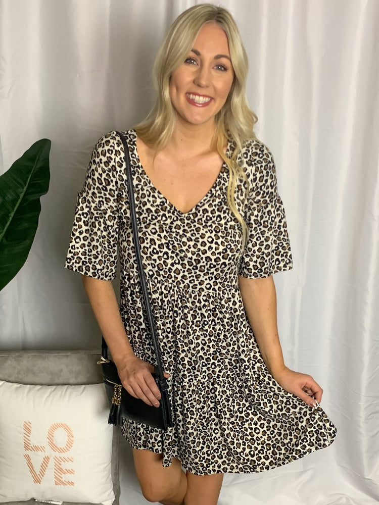 Leopard Print Swing Dress