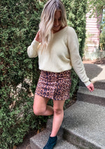 Lace Up Leopard Print Skirt - Lilac&Lemon