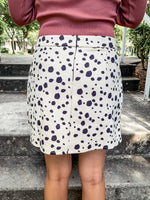 Cow Print Mini Skirt - Lilac&Lemon
