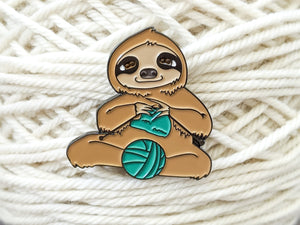Process Knitter Sloth pin