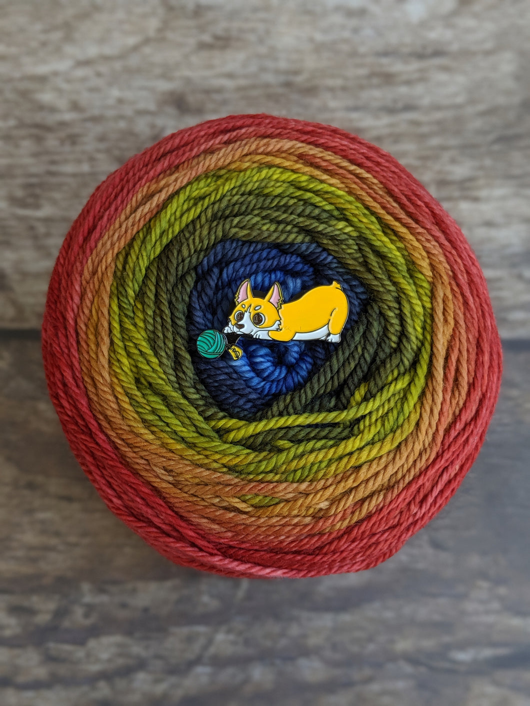 Yarn Sale Corgi pin