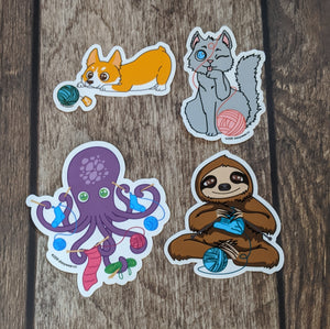 Yarn Familiar sticker pack