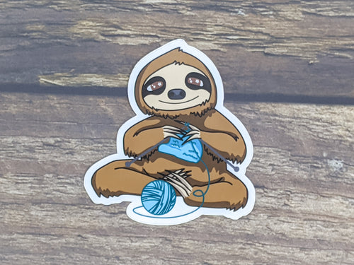 Process Knitter Sloth sticker or magnet