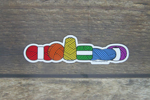Yarn Pride sticker