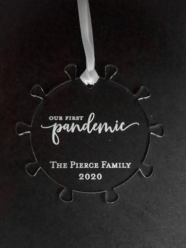 Customizable 2020 pandemic ornament