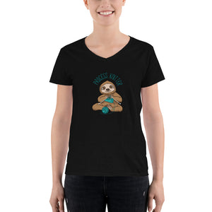 Process Knitter sloth v-neck shirt (women's)