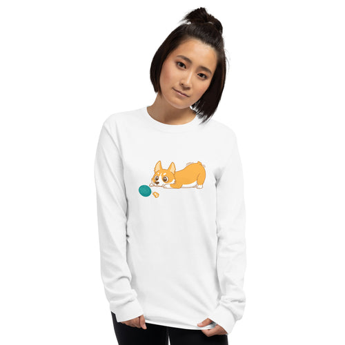 Yarn Sale Corgi Long Sleeve T-Shirt