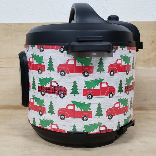 Red truck with Christmas Tree, Pressure Cooker Wrap
