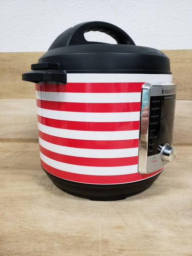 Red and White Striped, Pressure Cooker Wrap, Removable