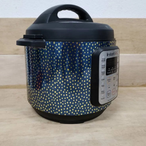 Blue and Gold Pressure Cooker Wrap