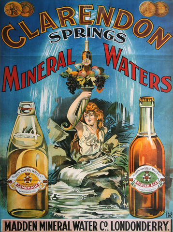 Madden Clarendon Mineral Waters Poster