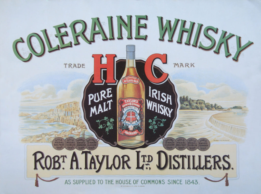 Coleraine Whiskey Advertisement Poster