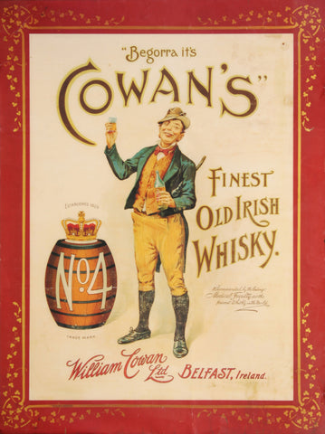 Grattans Belfast Ginger Ale Vintage drinks advertising poster reproduction.