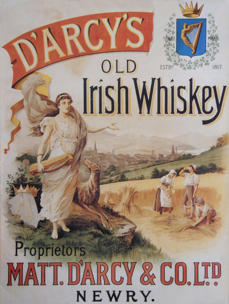 D'Arcy's Old Irish Whiskey Advertisement Poster