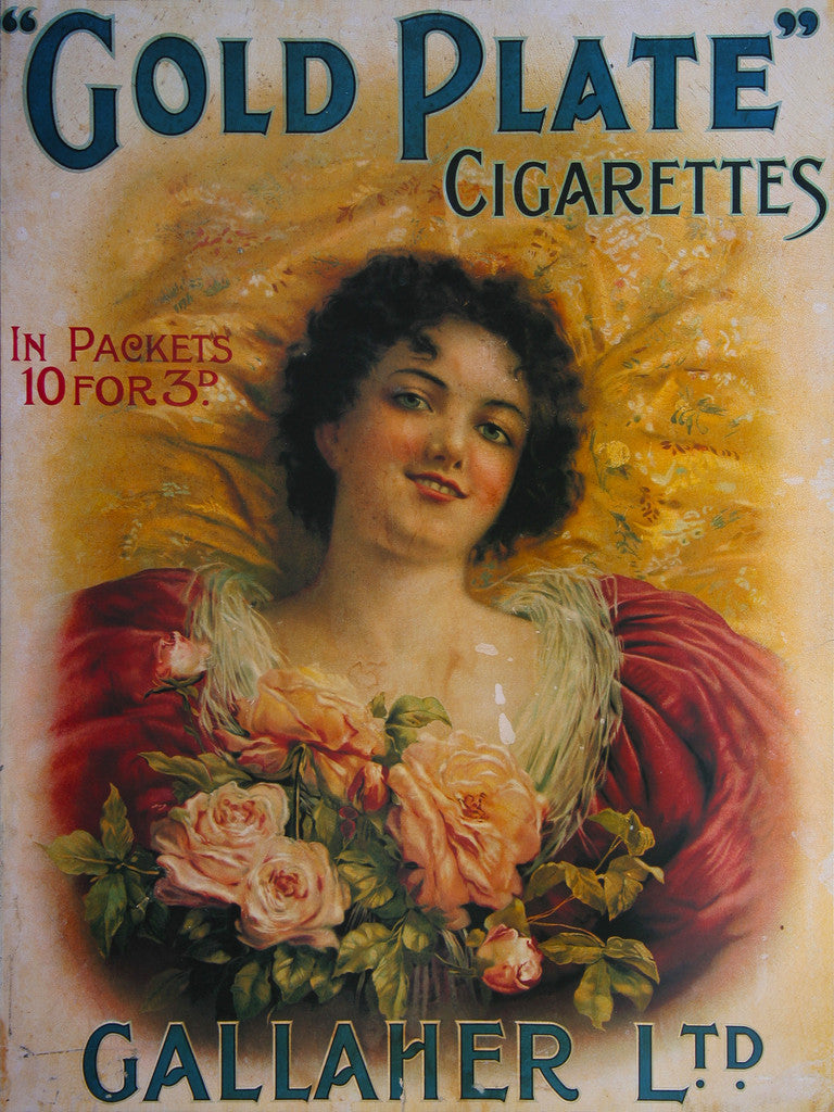 Gallaher Advertising Poster for Gold Plate Cigarettes