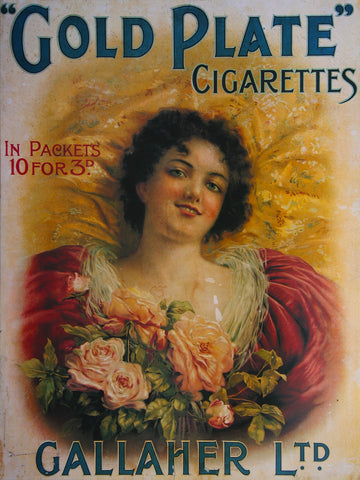 Gallaher Gold Plate Cigarette Poster
