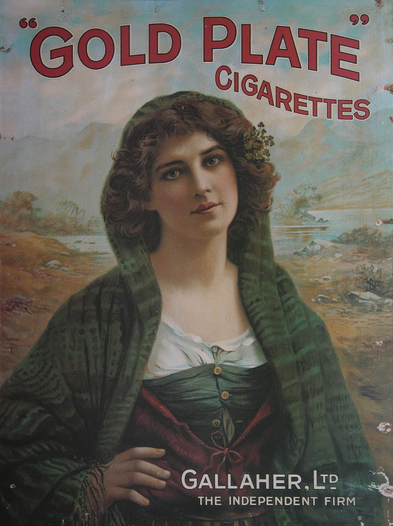 Gallaher Gold Plate Cigarettes Advertisement Poster