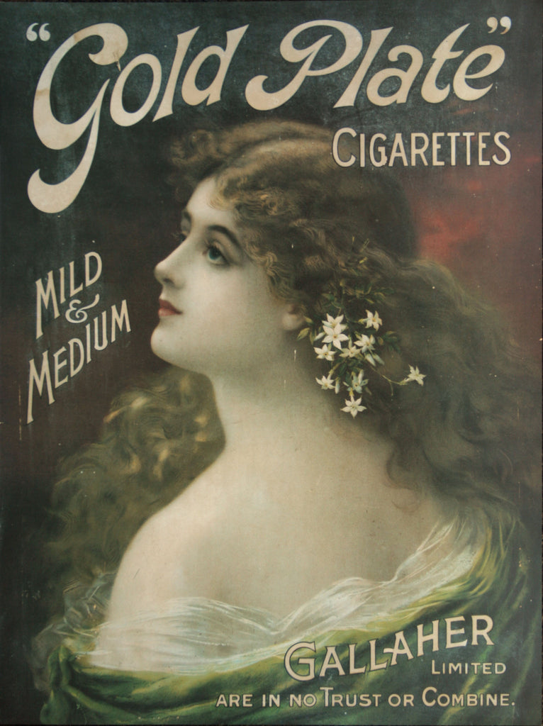 Gallaher, Mild and Medium Gold Plate Cigarettes Advertisement