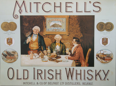 Mitchell Old Irish Whisky Poster