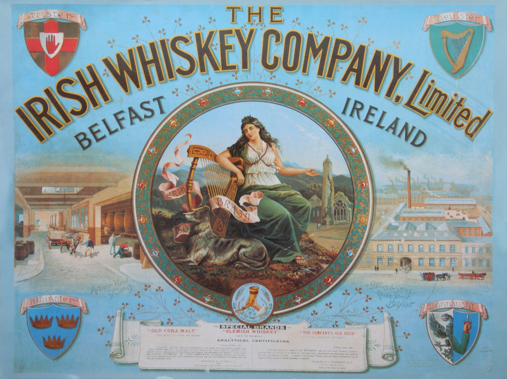 The Irish Whiskey Company Advertisement Poster