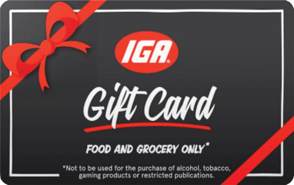 IGA Supermarkets (Food & Grocery Only) Gift Card - Victorian Seniors Card and Seniors Business Discount Card holders