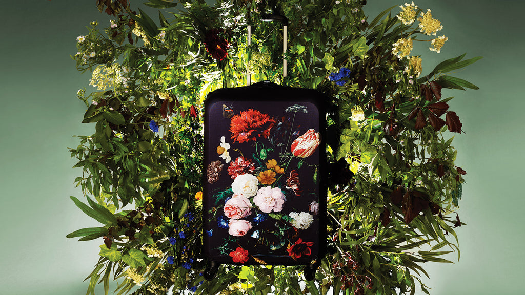 LOQI DE HEEM Still Life with Flowers Luggage Cover