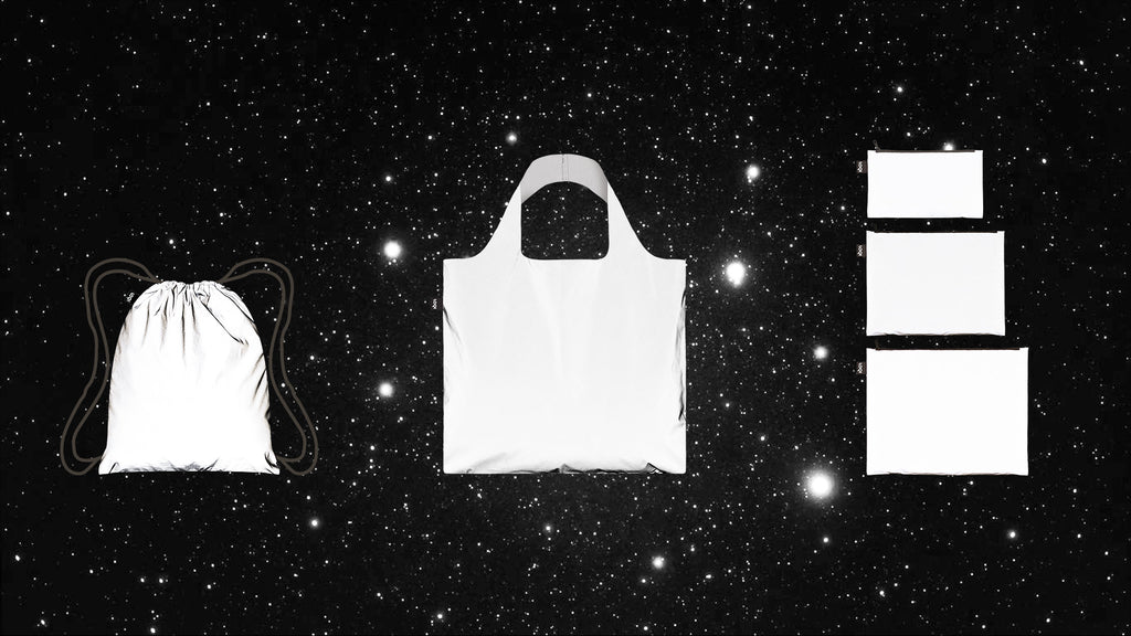 LOQI Reflective Collection - Bag, Backpack, Zip Pockets