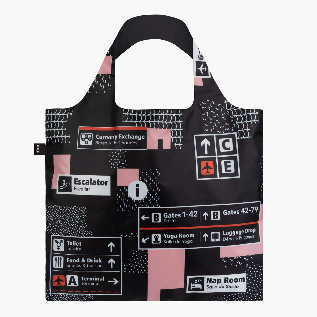 LOQI Airport Icons Bag front