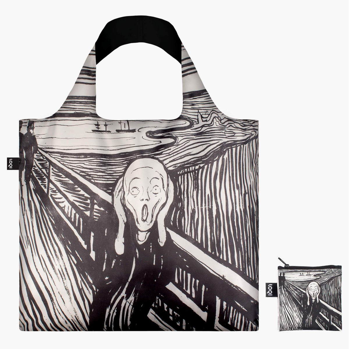 LOQI Edvard Munch The Scream, 1895 Bag with zip pocket