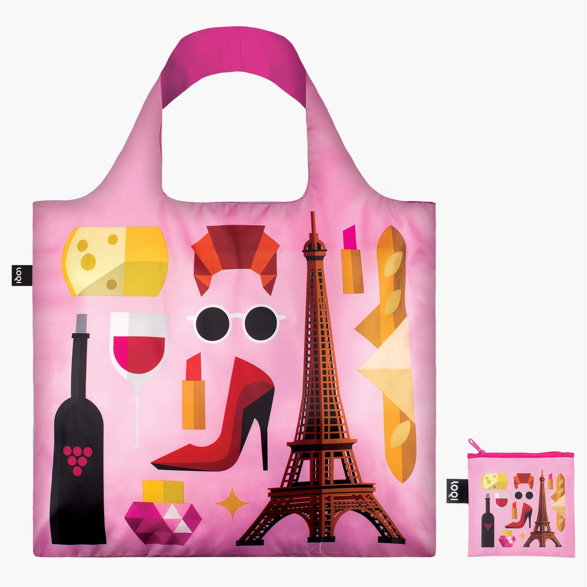 LOQI Hey studio Paris Bag with zip pocket