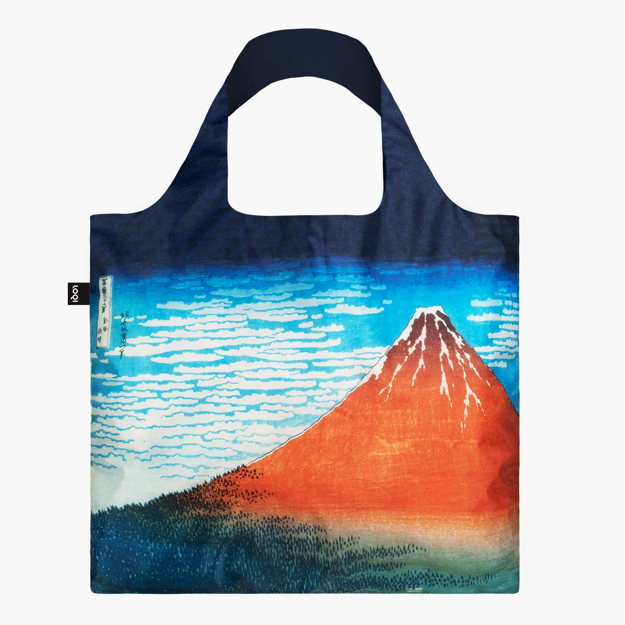 LOQI Katsushika Hokusai Red Fuji, Mountains in Clear Weather Bag